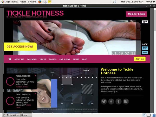 TICKLE HOTNESS Free Trial Account